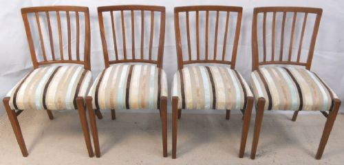 1960's Retro Set of Four Teak Dining Chairs - SOLD